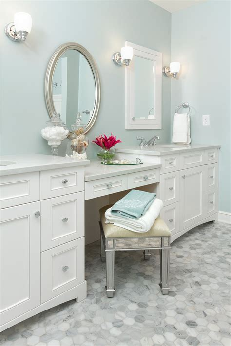 makeup vanity set bathroom contemporary with california