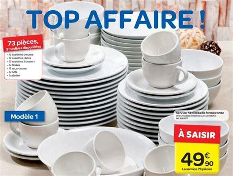 service a vaisselle carrefour carrefour promotion service 73 pi 232 ces de forme ronde produit maison carrefour vaisselle