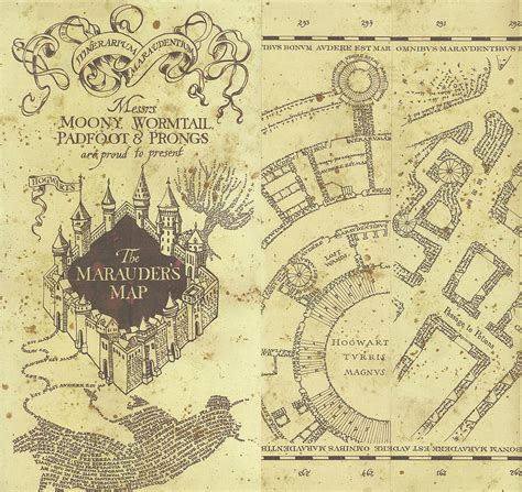 Harry Potter Castle Wallpaper Marauder 39 S Map Of Hogwarts Digital Art By Midex Planet