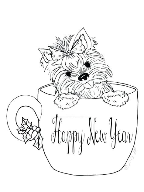Coloring Ideas by Design Yorkie Coloring Page Pages Pin
