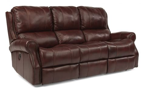 Leather Power Sofa by Flexsteel Living Room Leather Power Reclining Sofa 1533