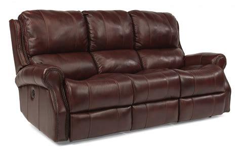 Flexsteel Living Room Leather Power Reclining Sofa 1533