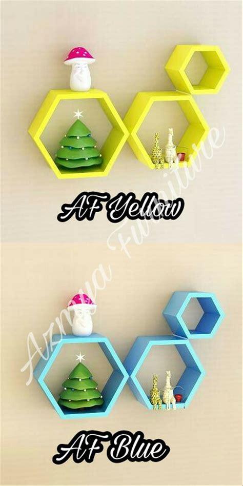 Rak Dinding Hexagonal jual rak dinding hexagon segi 6 di lapak azmya furniture