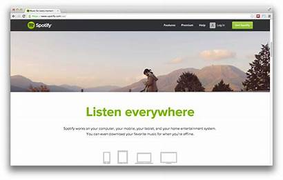 Homepage Ui Ux Spotify Website Basic Points