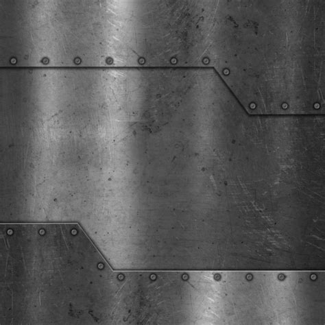 silver wall metal texture with screws photo free