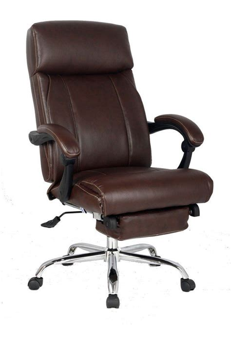 executive brown leather office chair for comfortable sitting