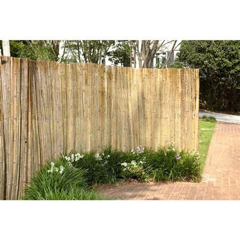 6 ft h x 16 ft l bamboo reed garden fence 0406165 the