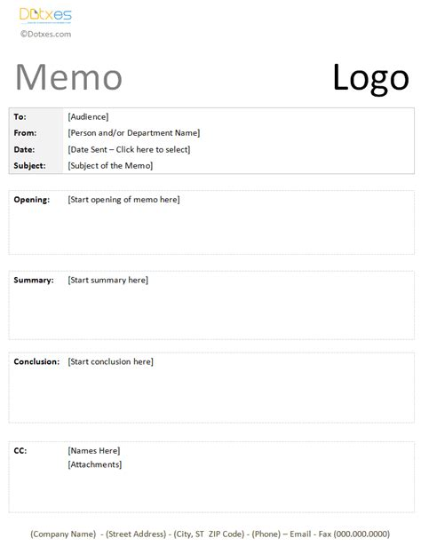 Formal Memo Template Create A Pro Memorandum Dotxes