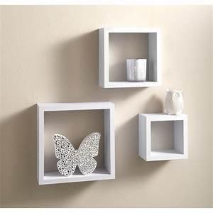 Lokken 3 cube shelves living room furniture bm for Out of the box corner wall shelves