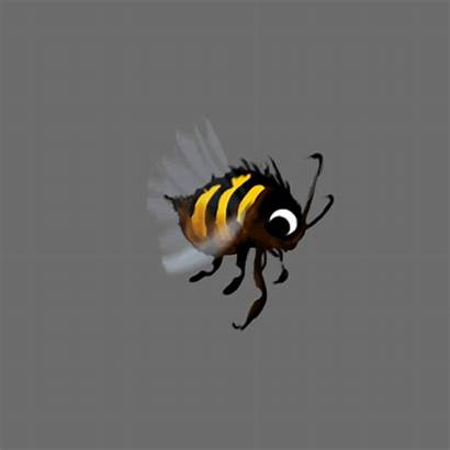Animation Bee Flying Honey Wings Animated Bees
