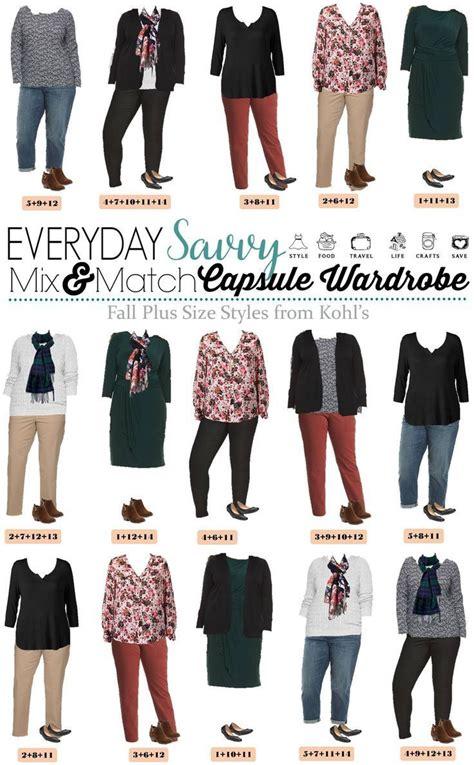fall  size outfits  kohls mini capsule