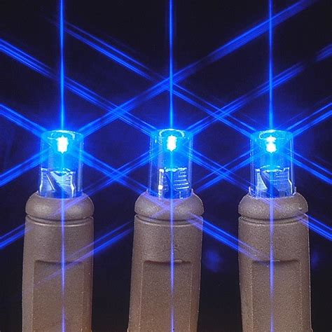 brown wire wide angle blue 50 bulb led christmas lights