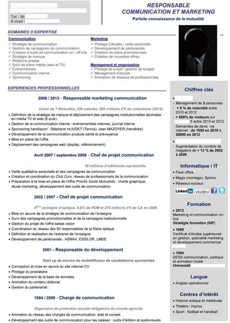 Exemple De Curriculum Vitae 2015 by Meilleurs Exemples De Cv Pour 2015 Marketing Hr Psy