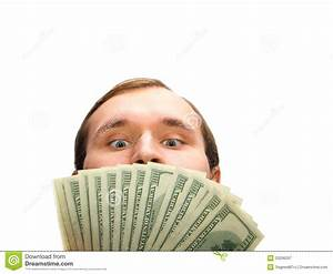 Greedy Man With Money Royalty Free Stock Photography ...