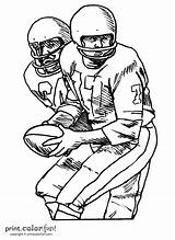 Football Players Coloring Player Pages Printable Team Background Without Ladanian Tomlinson Printcolorfun sketch template