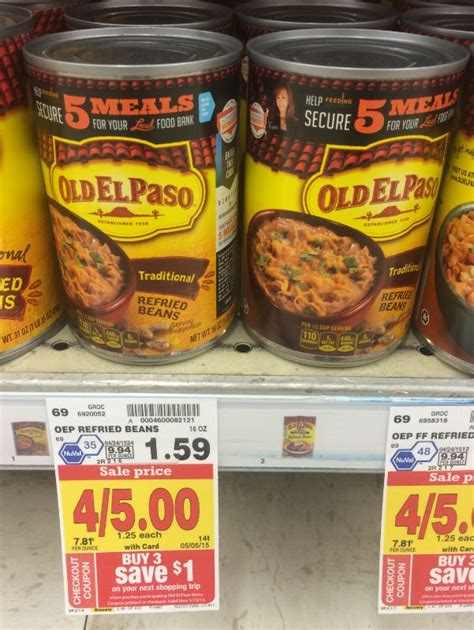 74658 El Paso Refried Beans Coupon by El Paso New Coupon 0 58 Refried Beans At