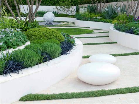 landscape styles white garden design ideas hgtv