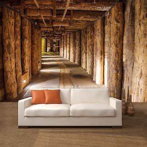 fototapete salt mine 366x254cm tapete salzmine bunker holz With markise balkon mit 3d holz tapete