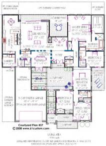courtyard floor plans gallery for gt mediterranean house plans with courtyards