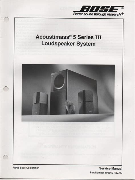bose 2 2 stereo everywhere speaker service manual