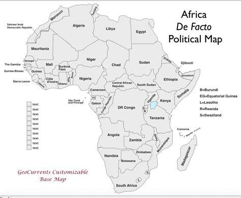 africa customizable map  xpng