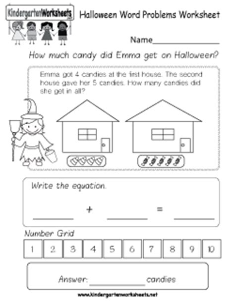 kindergarten halloween worksheets learning