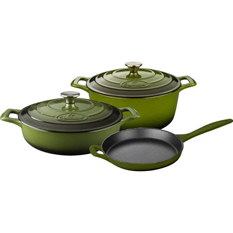 la cuisine 7 la cuisine pro 5 enameled cast iron cookware set