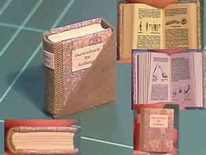 Buch Selber Basteln : nostalgie in 1zu12 garden book in mini tutorial templates included little books ~ Orissabook.com Haus und Dekorationen