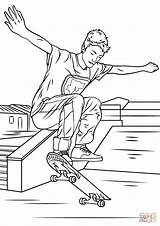 Coloring Skateboarding Trick Pages Skateboard Printable Sheets Drawing Coloriage Dot Boy sketch template