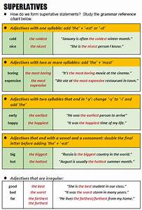 Chart Of Present Past And Past Participle Superlatives All Things Grammar