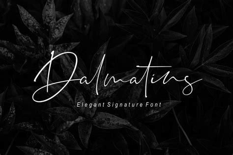 dalmatins signature font befontscom