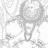 Coloring Elizabeth Queen Subscribing Thanks sketch template
