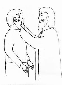 Jesus Heals Coloring Pages