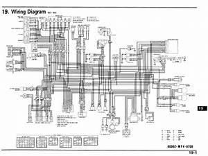 Honda Vfr750f  1990 - 1993  Wiring Schematic