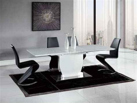 dining table  white  global woptional black chairs