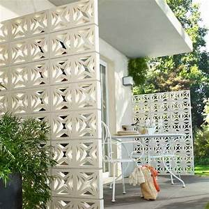 Claustra Beton Blanc : claustra corfou 20 x 40 x 5 cm claustra castorama et claustra exterieur ~ Melissatoandfro.com Idées de Décoration
