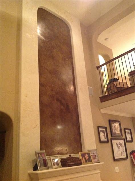 venetian plaster fireplace  contemporary living room