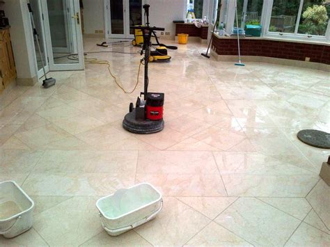 marble tiled floor cleaned and polished in ealing south