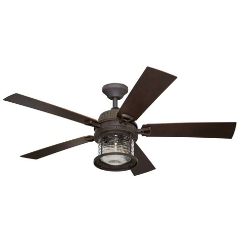 porch ceiling fans with lights shop allen roth stonecroft 52 in rust indoor outdoor