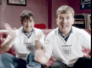 Baddiel And Skinner Celebrate As England Beat Colombia On