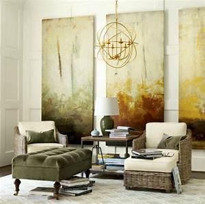 Tableau Design Salon : design d 39 int rieur styl avec le tableau triptyque ~ Teatrodelosmanantiales.com Idées de Décoration