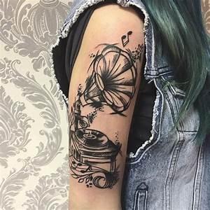 100 Music Tattoo Designs For Music Lovers | Music tattoo ...