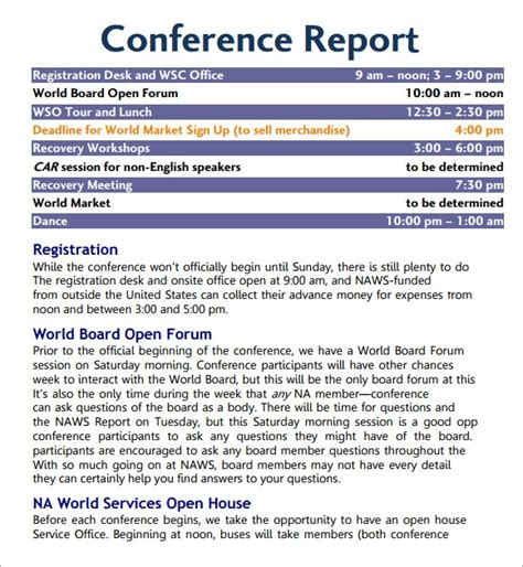 conference agenda template    documents