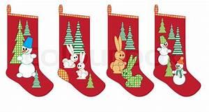 Weihnachtssocken Zum Aufhängen : weihnachtssocken f r geschenke stock vektor colourbox ~ Michelbontemps.com Haus und Dekorationen