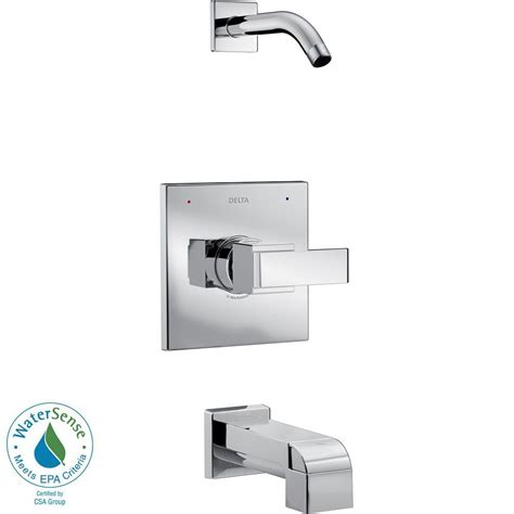 delta ara 1 handle tub and shower faucet trim kit in