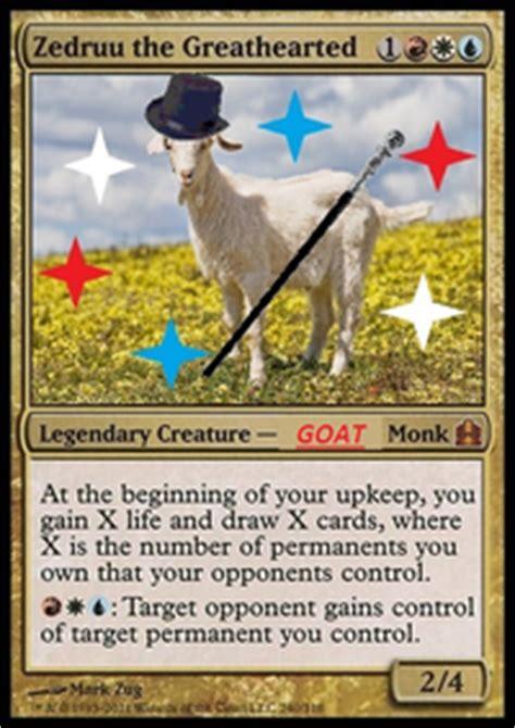 mtg goat deck edh zedruu is a goat not a minotaur commander edh mtg