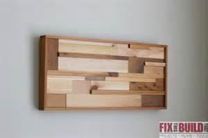 quadro feito restos de madeira