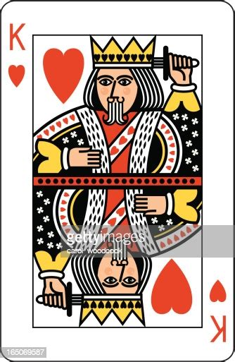 king  hearts playing card high res vector graphic