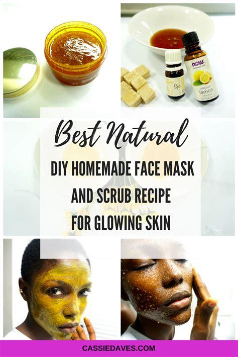 homemade face mask  scrub formula  glowing skin