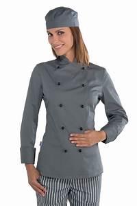 Tenue De Cuisine Femme : veste cuisine lady chef grise v tement de cuisine mylookpro ~ Teatrodelosmanantiales.com Idées de Décoration